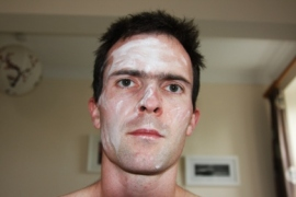 dan with powder